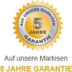 5 Jahre Garantie auf das Markisentuch